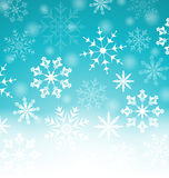 Xmas blue background with snowflakes and copy space for your tex Stock Photos