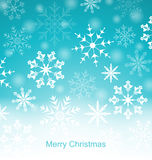 Xmas Blue Background with Snowflakes Royalty Free Stock Images