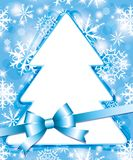 Xmas blue frame Stock Photo