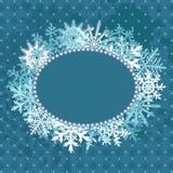 Xmas blue frame Stock Image