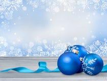 Xmas. Blue ornament ball natale holiday background stock photos