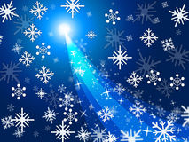 Xmas Blue Represents Ice Crystal And Celebrate Royalty Free Stock Photography