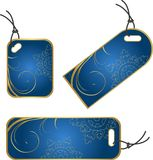 Xmas blue tags Royalty Free Stock Photography