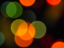 Xmas blurs lighting ball bokeh effect. Background with beautiful lighting blurs colored bokeh effect for christmas Royalty Free Stock Photos