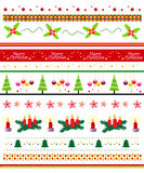 Xmas border / text divider set Royalty Free Stock Image