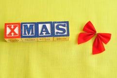 Xmas and a bow Royalty Free Stock Image