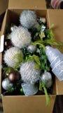 Xmas Box full of balls Stock Image