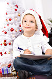 Xmas boy Royalty Free Stock Photo