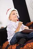 Xmas boy Royalty Free Stock Photos