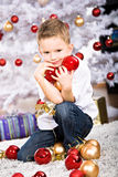 Xmas boy Royalty Free Stock Photography