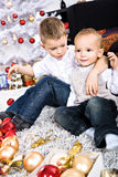 Xmas boy Stock Photo