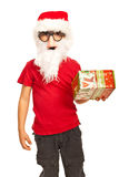Xmas boy with mask and beard Stock Image
