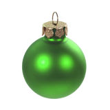 Xmas bulb. Isolated green christmas bulb on white background stock photography