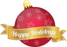 Xmas bulb red happy holidays Royalty Free Stock Photo