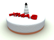 Xmas Cake 3 Royalty Free Stock Photography