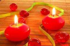 Xmas candle Stock Photo