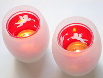 Xmas Candle Holders stock photo