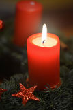 Xmas candle Royalty Free Stock Photos