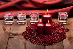 Xmas candles Stock Photo