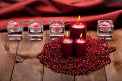 Xmas candles Stock Photo