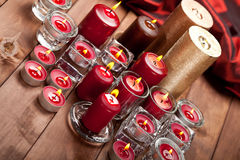 Xmas candles Stock Images