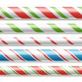 Xmas Candy Cane Vector. Horizontal Seamless Pattern Isolated royalty free illustration