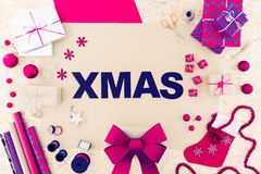 Xmas in capital letters Stock Image