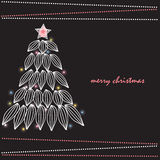Xmas card. Beautiful Christmas card, suitable for packaging, wallpaper, artwork for children's tales Stock Images
