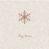 Xmas Card. Easy Xmas card with snowflake stock illustration