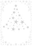 Xmas card. Christmas card illustration royalty free illustration