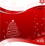 Xmas card. Christmas greeting card in red Stock Photos