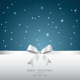 Xmas card, blue background Royalty Free Stock Photography