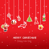Xmas card for kid,red background. Christmas greeting card, red background Royalty Free Stock Photo