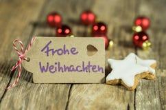 Xmas card - Merry Christmas Stock Photo