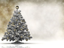 Xmas card template - christmas tree and blank space stock photography