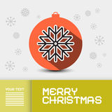 Xmas Card Template Stock Images