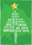 Xmas card tree spanish Stock Images
