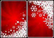 Xmas cards. Winter theme cards with colorful ray and  snow for your business Royalty Free Stock Photos