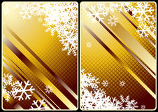 Xmas cards. Winter theme cards with colorful background and  snow for your business Royalty Free Stock Photo