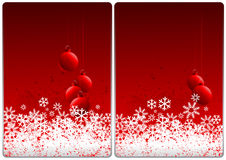 Xmas cards. Winter theme cards with colorful background and  snow for your business Royalty Free Stock Photography