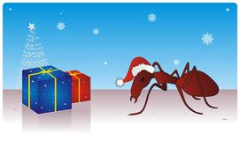 Xmas Celebration. Mr. Ant Celebrating the Xmas vector illustration