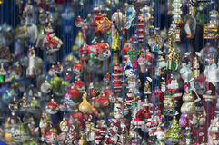 Xmas chaos. Lots of figures to hang to your Xmas tree Royalty Free Stock Photography