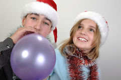 Xmas children Royalty Free Stock Image