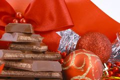 Xmas chocolate Stock Image