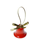 Xmas christmas bells red decoration jingle new year. Merry isolated Stock Image