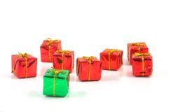 Xmas or christmas present box Stock Photo