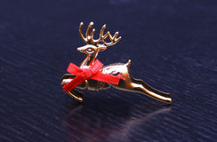 Xmas christmas reindeer toy decoration new year. Isolated Royalty Free Stock Photo
