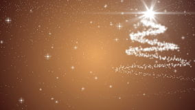 Xmas christmas tree holiday celebration winter snow animation gold background. Xmas merry christmas tree holiday celebration winter snow card animation gold stock illustration
