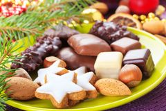Xmas cinnamon cookies Royalty Free Stock Image