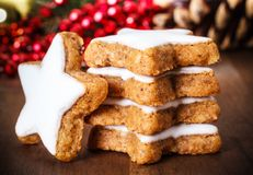 Xmas cinnamon cookies Royalty Free Stock Photo